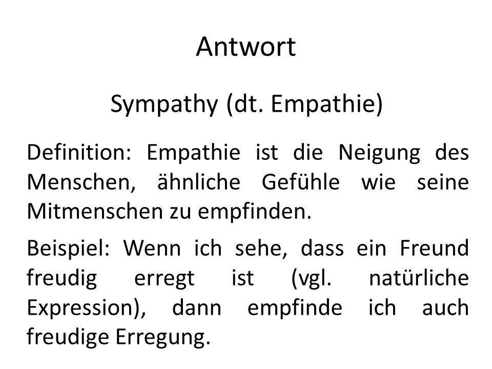 Sympathy (dt. Empathie)