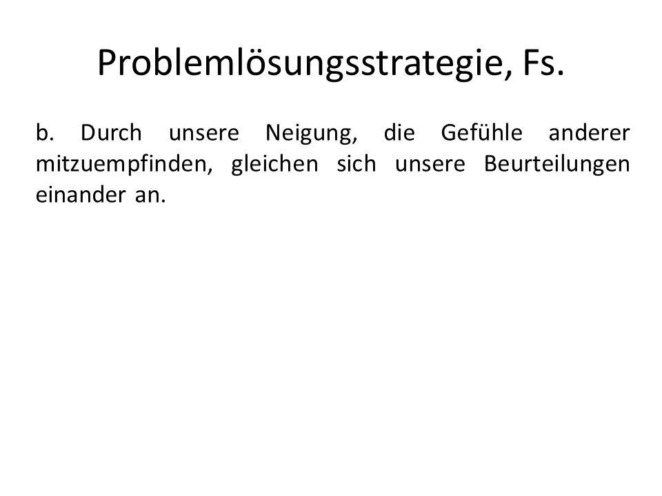 Problemlösungsstrategie, Fs.