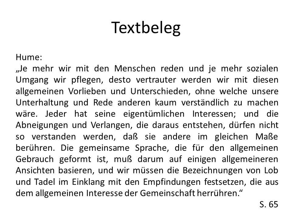 Textbeleg Hume: