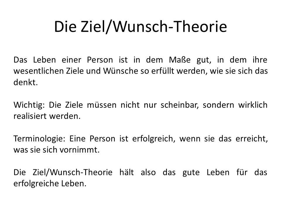 Die Ziel/Wunsch-Theorie
