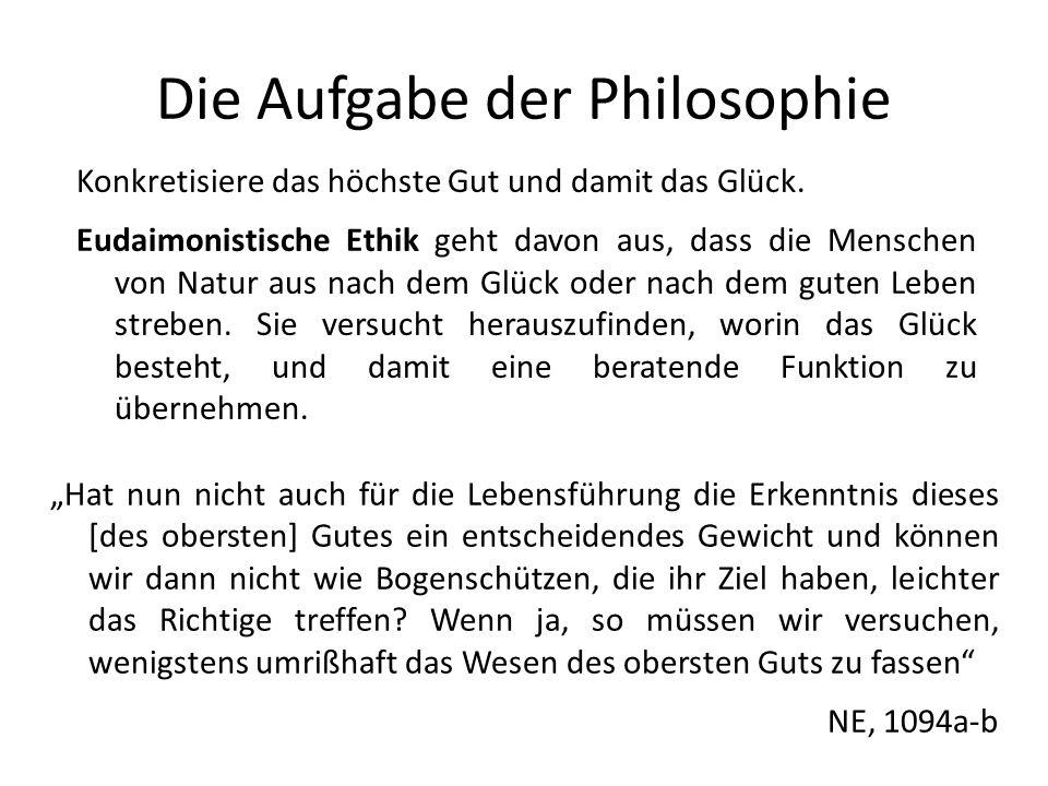 Die Aufgabe der Philosophie