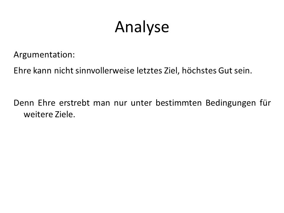 Analyse Argumentation: