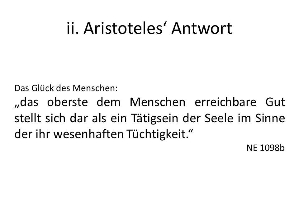 ii. Aristoteles' Antwort