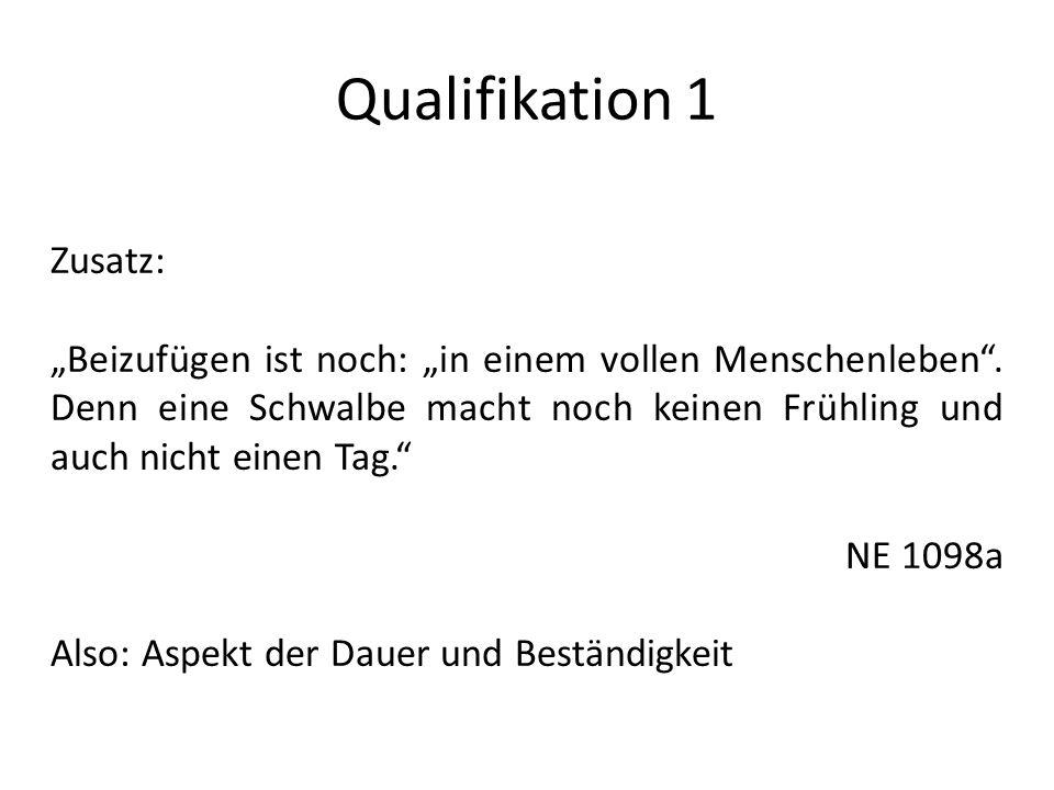 Qualifikation 1 Zusatz:
