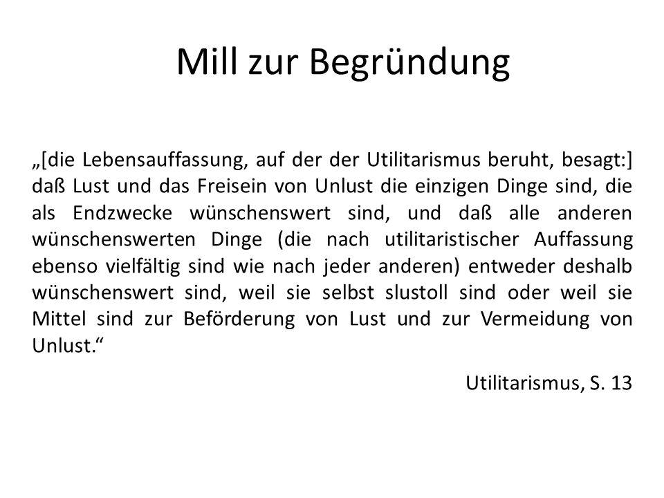 Mill zur Begründung
