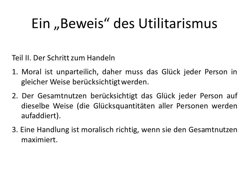 """Ein """"Beweis des Utilitarismus"""