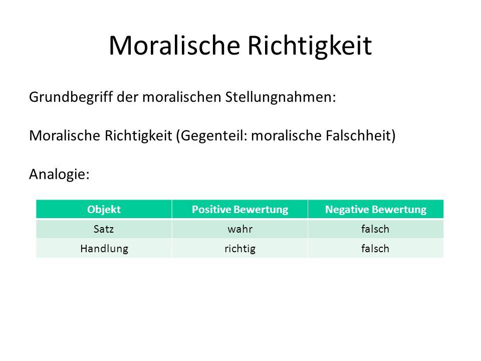 Moralische Richtigkeit