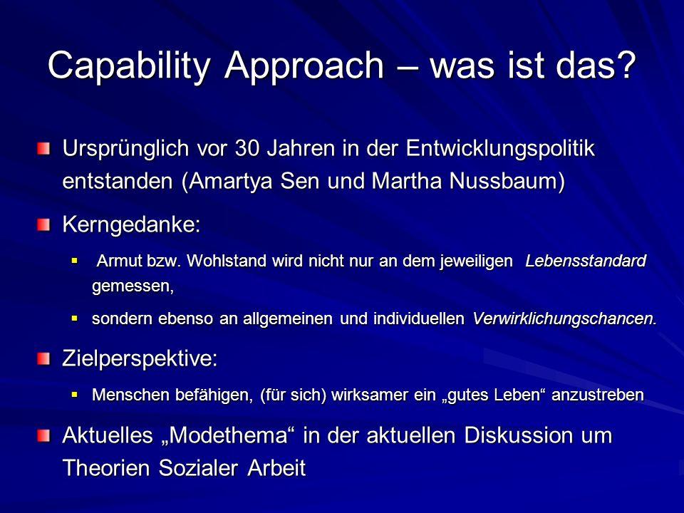Capability Approach – was ist das