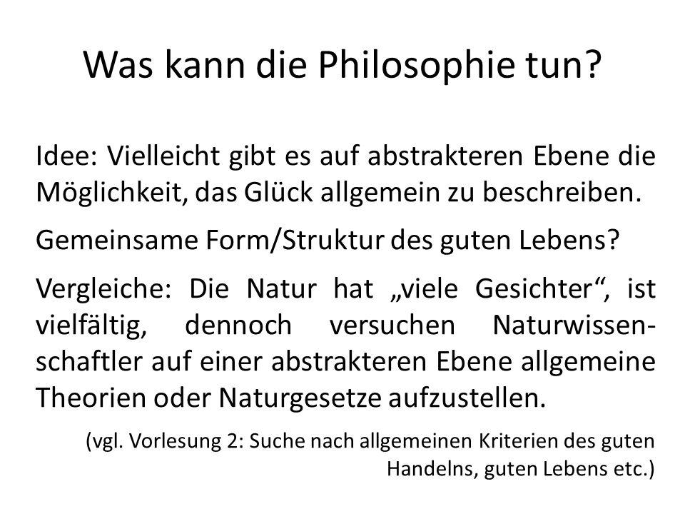 Was kann die Philosophie tun