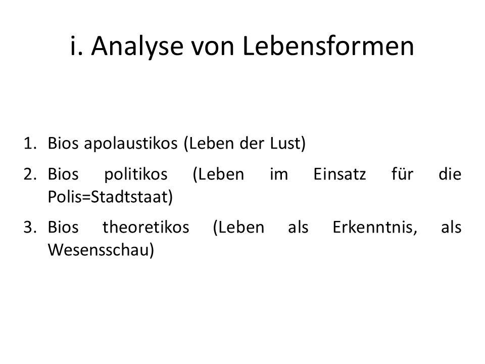 i. Analyse von Lebensformen