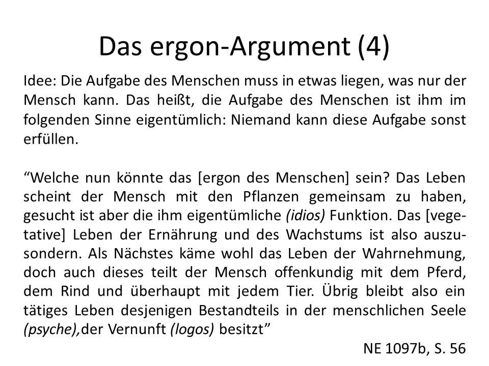 Das ergon-Argument (4)
