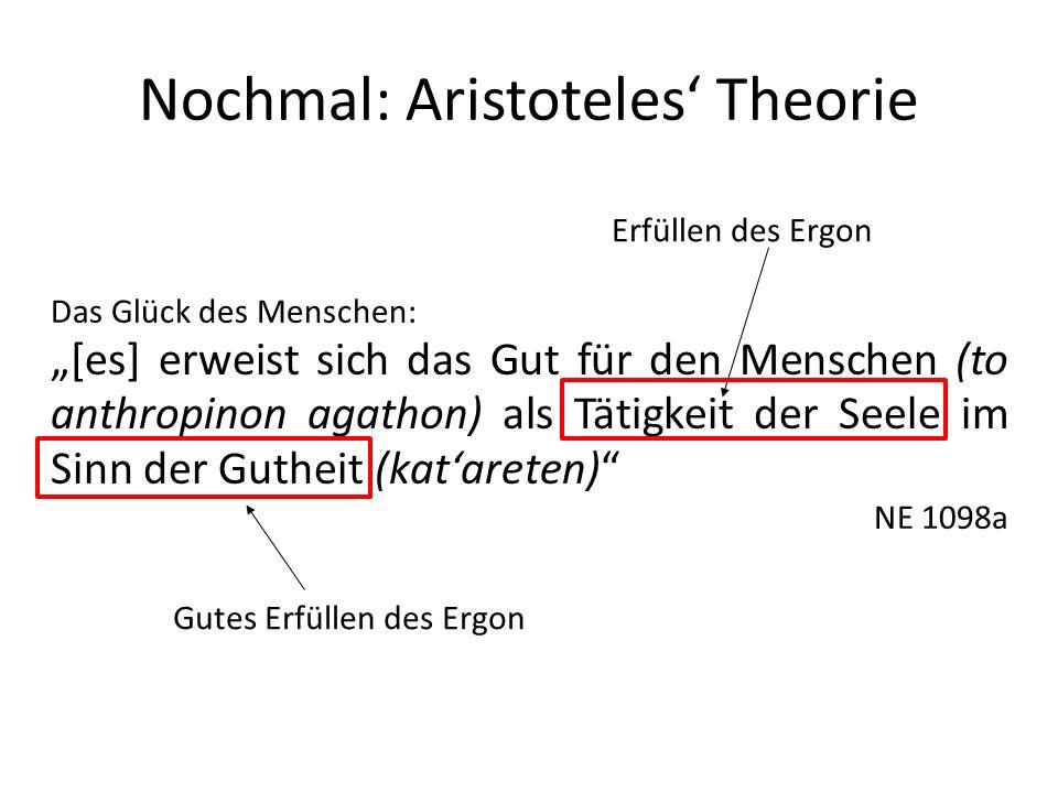 Nochmal: Aristoteles' Theorie