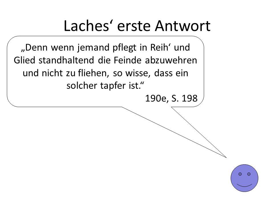 Laches' erste Antwort