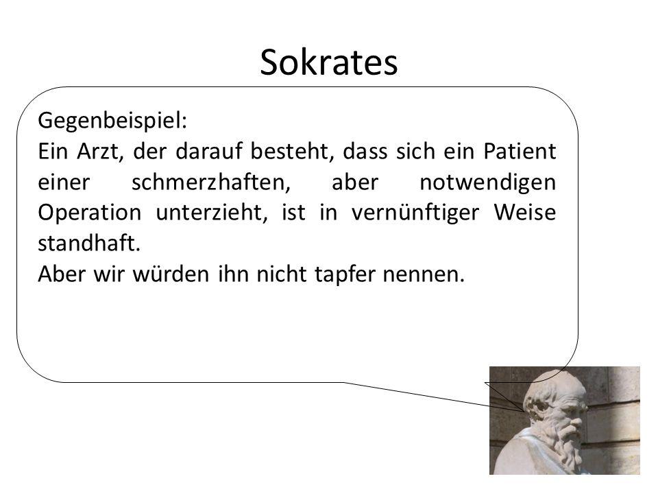 Sokrates Gegenbeispiel: