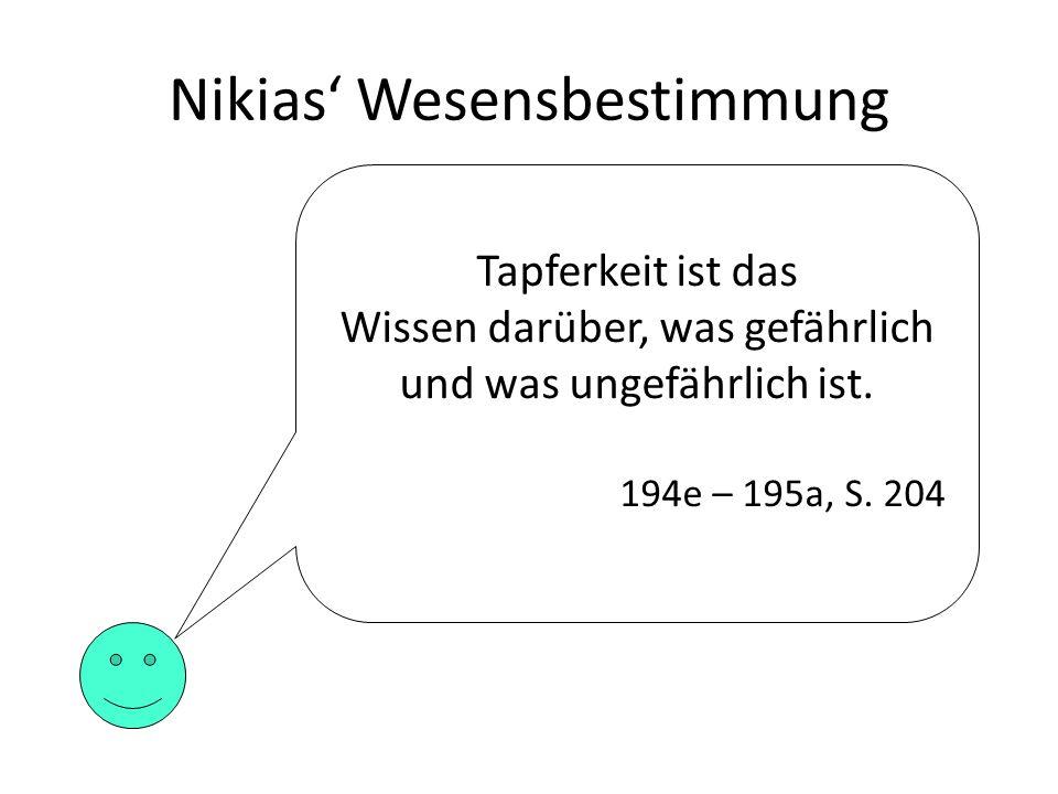 Nikias' Wesensbestimmung