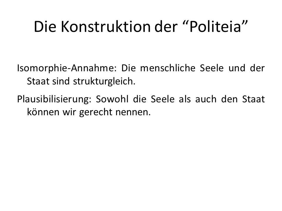 Die Konstruktion der Politeia