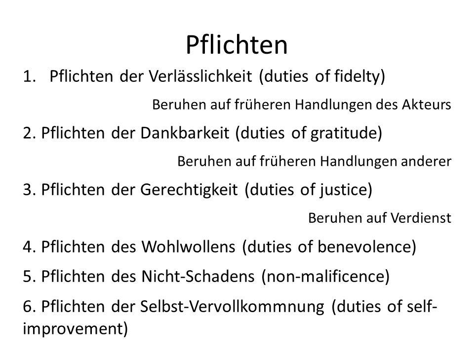 Pflichten Pflichten der Verlässlichkeit (duties of fidelty)