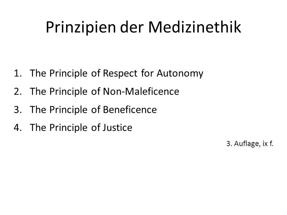 Prinzipien der Medizinethik