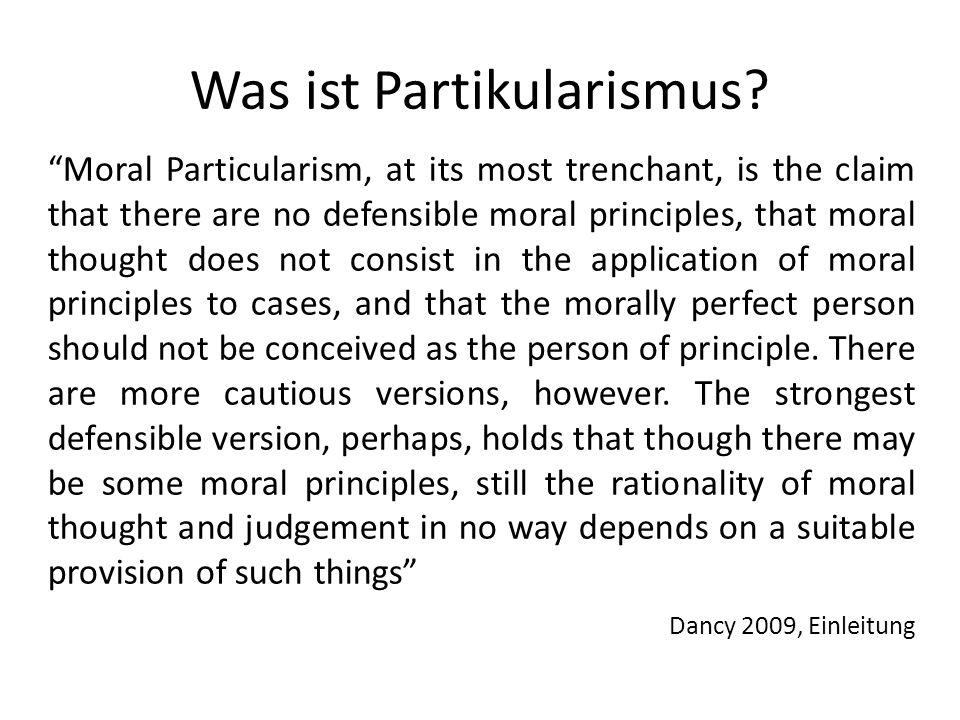 Was ist Partikularismus