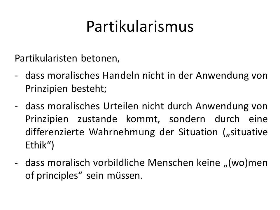 Partikularismus Partikularisten betonen,