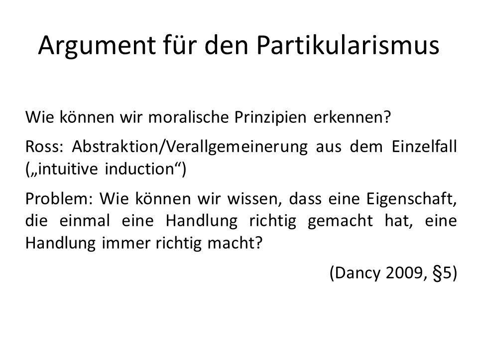 Argument für den Partikularismus