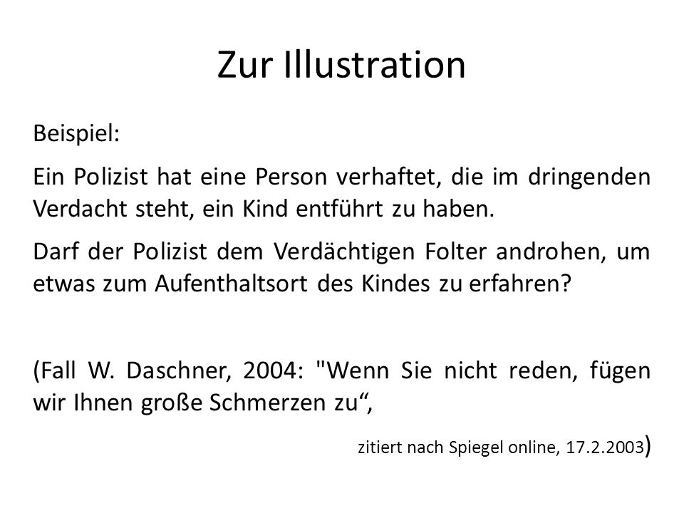 Zur Illustration Beispiel:
