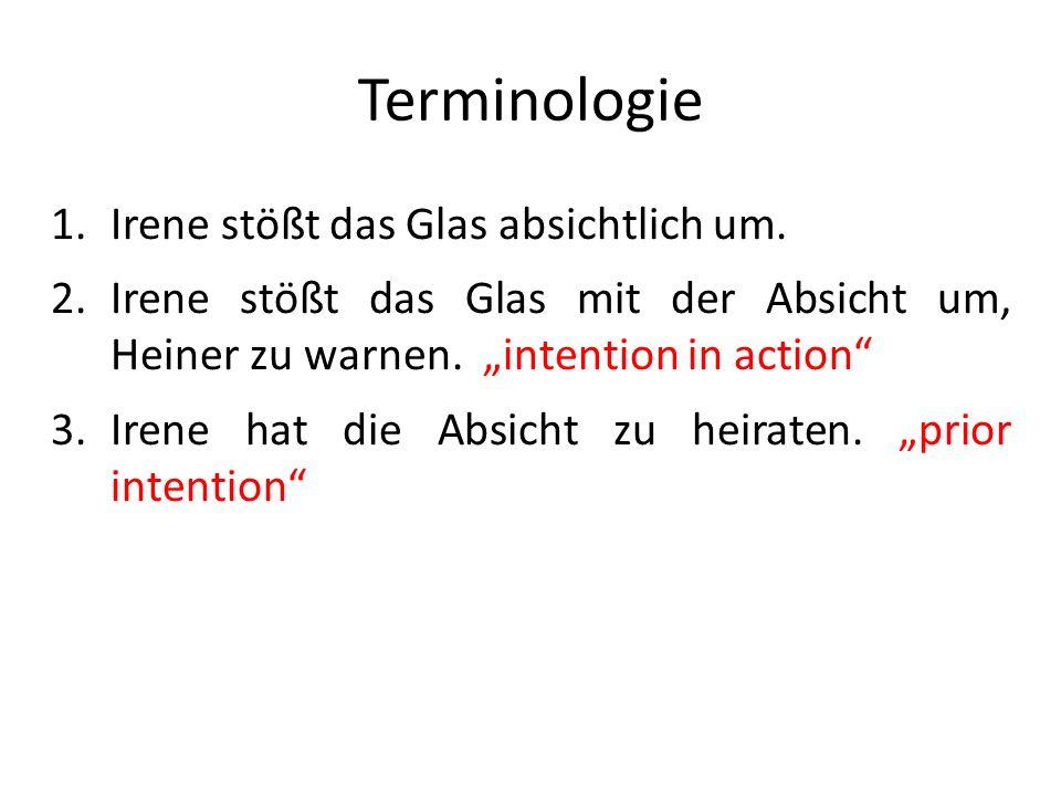 Terminologie Irene stößt das Glas absichtlich um.