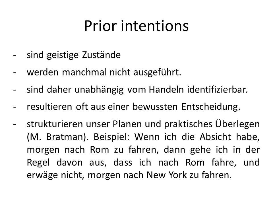 Prior intentions sind geistige Zustände