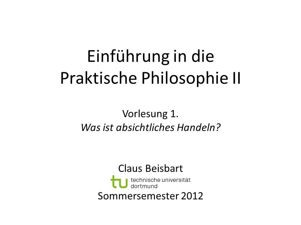 Einführung in die Praktische Philosophie II