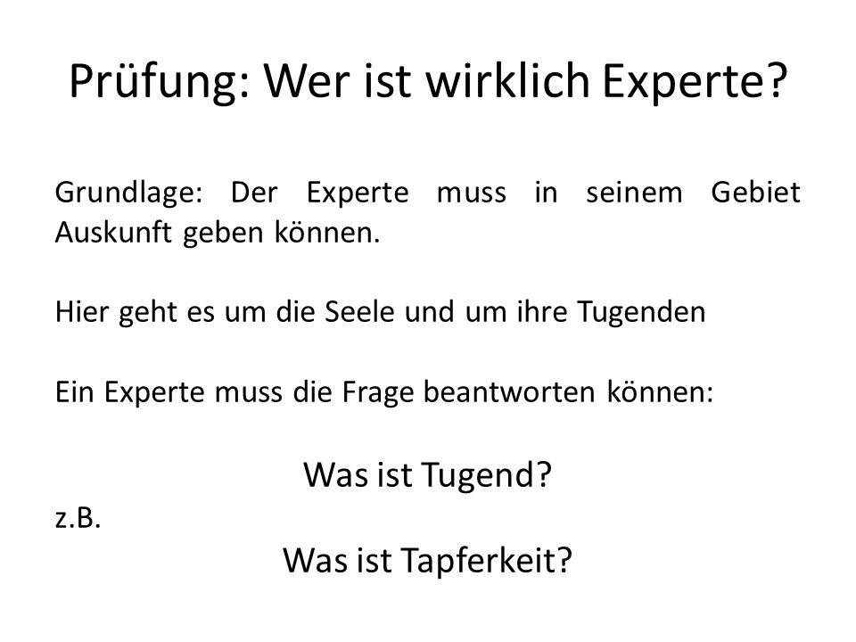 Prüfung: Wer ist wirklich Experte