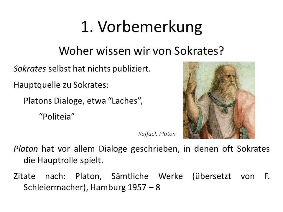 Woher wissen wir von Sokrates