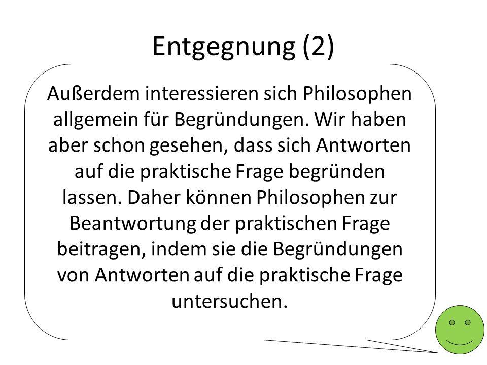 Entgegnung (2)