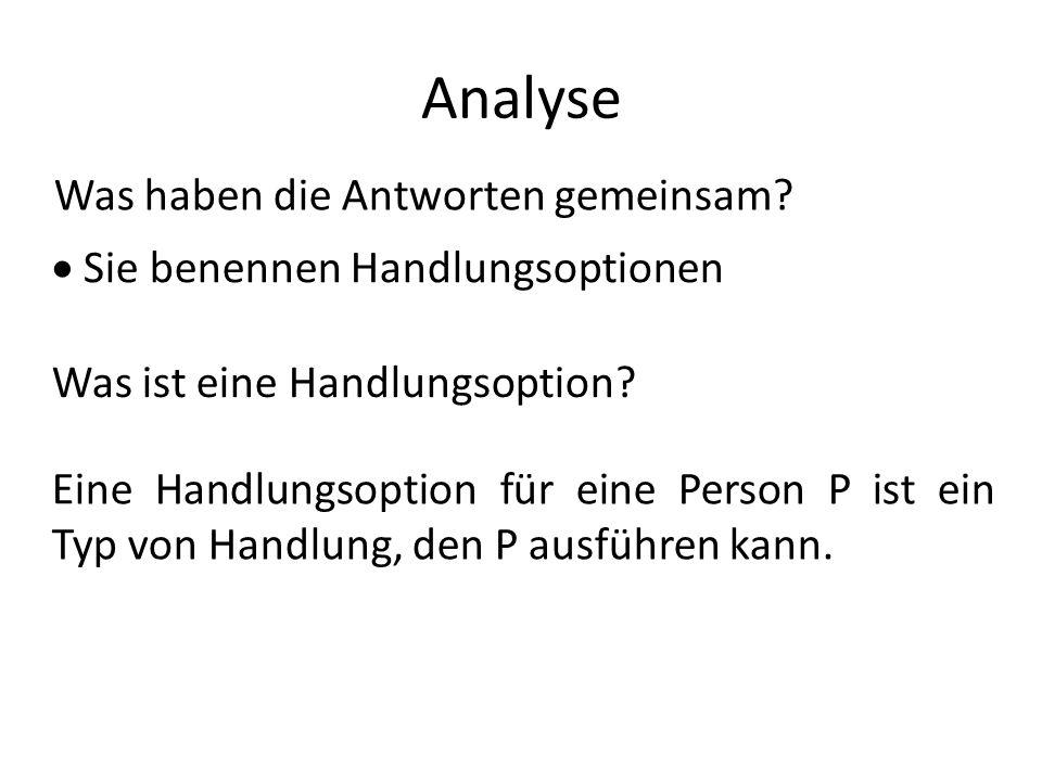 Analyse Was haben die Antworten gemeinsam