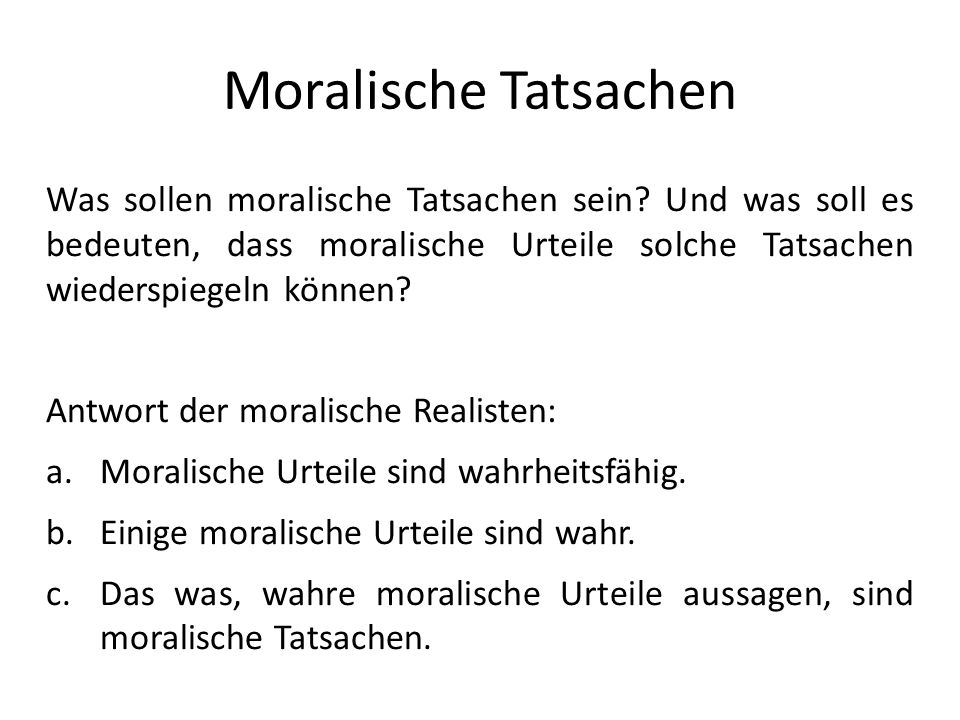 Moralische Tatsachen