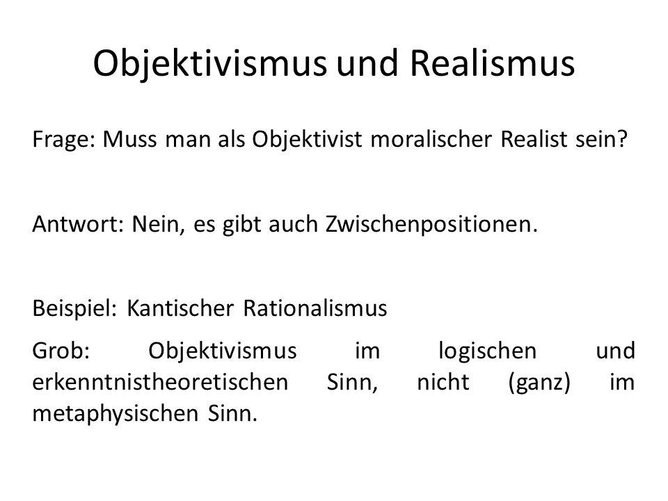 Objektivismus und Realismus