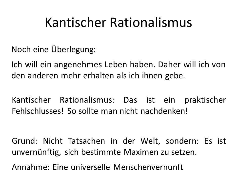 Kantischer Rationalismus