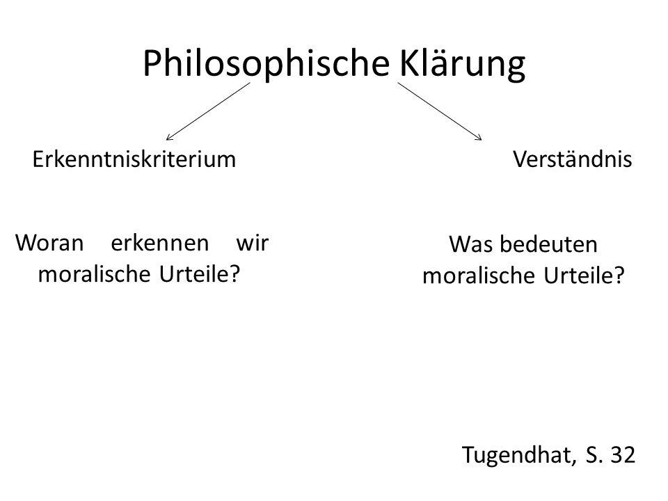 Philosophische Klärung