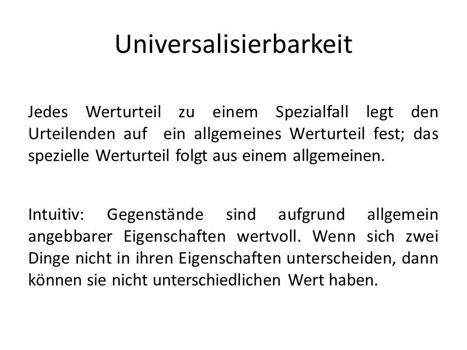 Universalisierbarkeit
