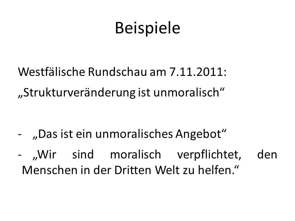 Beispiele Westfälische Rundschau am 7.11.2011: