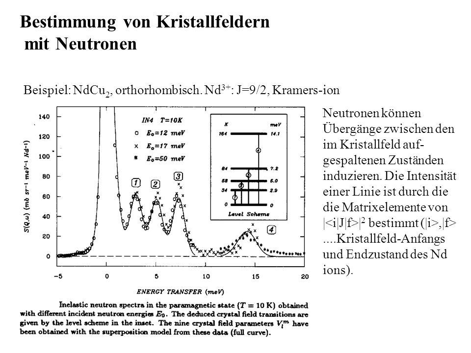 Bestimmung von Kristallfeldern mit Neutronen