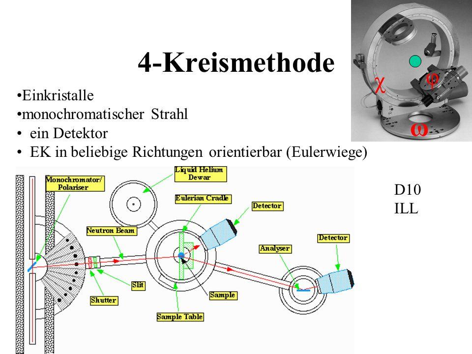 4-Kreismethode ω φ χ Einkristalle monochromatischer Strahl