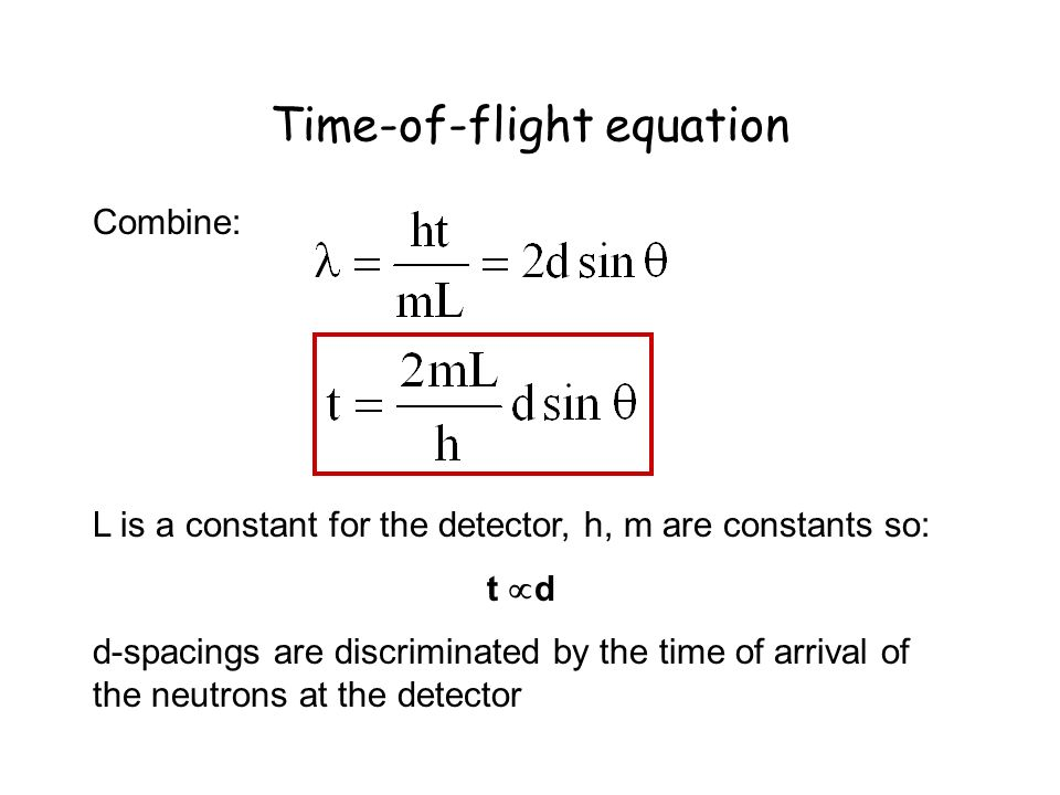 Time-of-flight equation