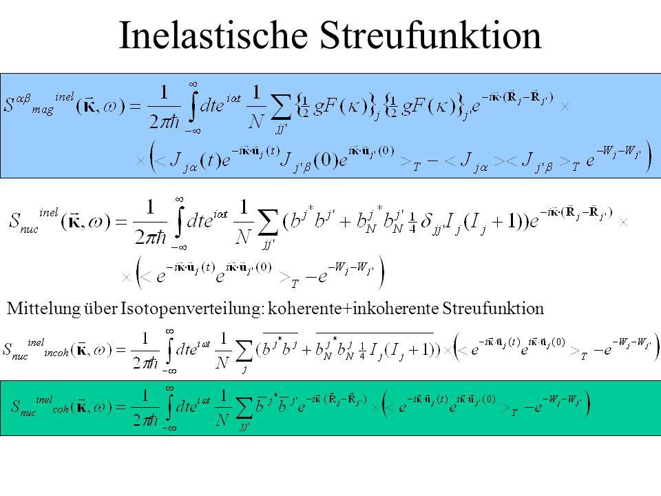 Inelastische Streufunktion