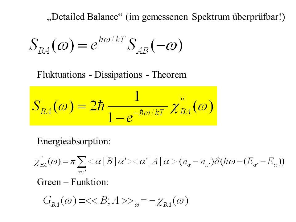 """""""Detailed Balance (im gemessenen Spektrum überprüfbar!)"""