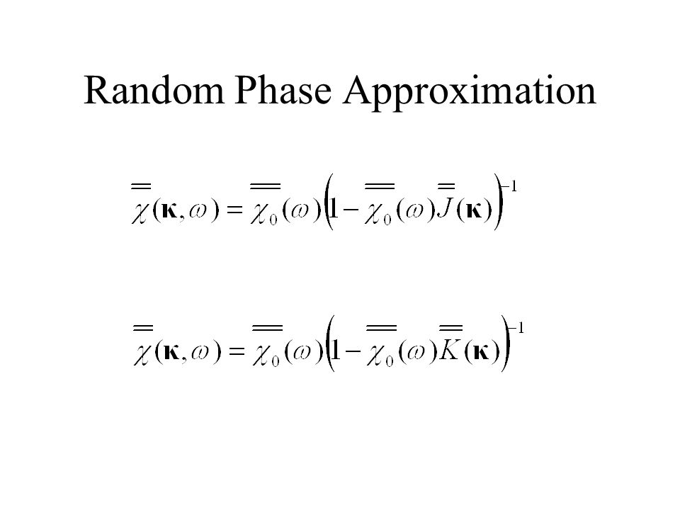 Random Phase Approximation