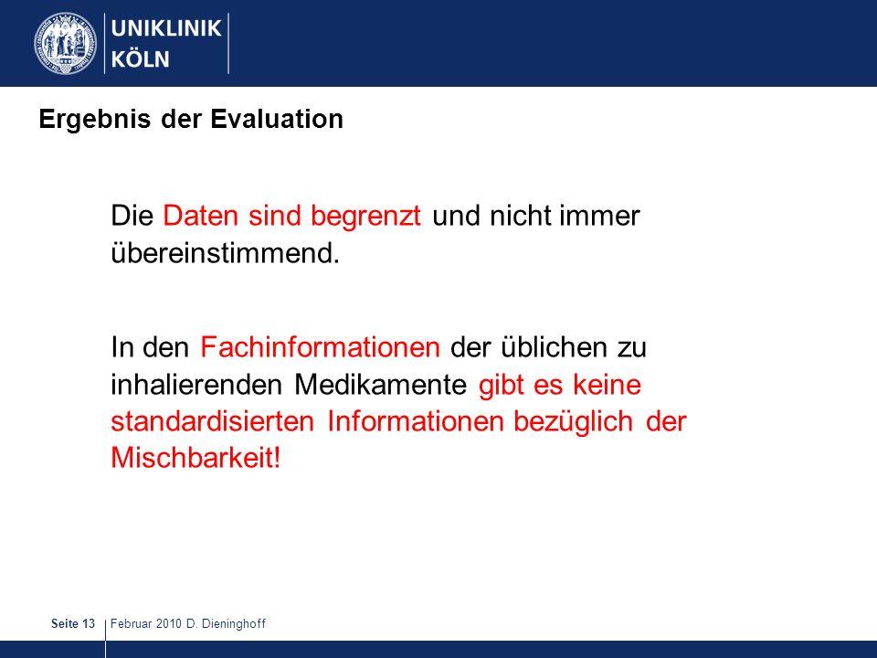 Ergebnis der Evaluation