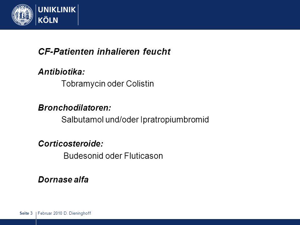 CF-Patienten inhalieren feucht