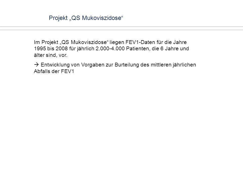 "Projekt ""QS Mukoviszidose"