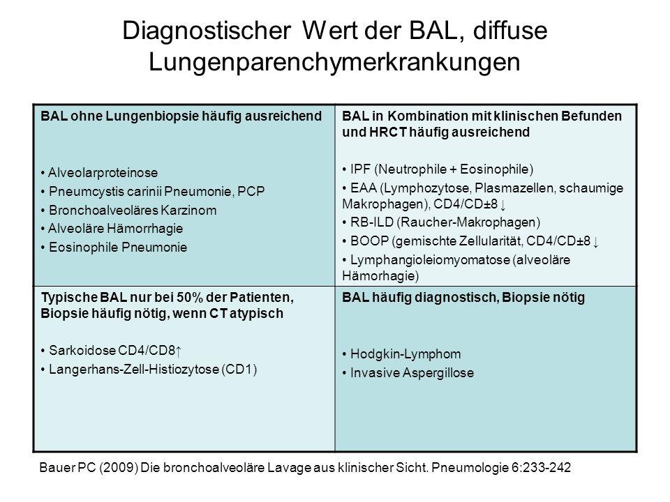 Diagnostischer Wert der BAL, diffuse Lungenparenchymerkrankungen
