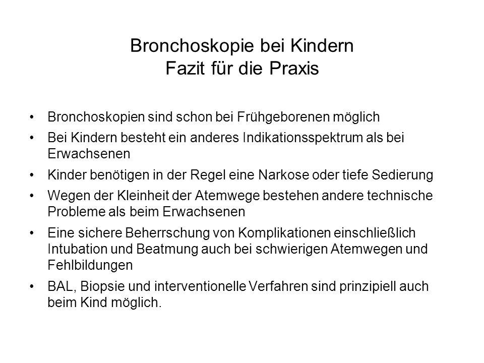 Bronchoskopie bei Kindern Fazit für die Praxis